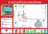 Emergency evacuation diagram template emergency evacuation for Occupant emergency plan template